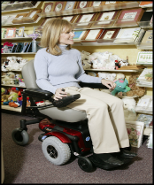 Lady using Powerchair
