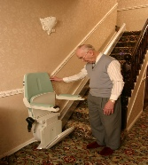 Gent with a Used Stairlift South Wales